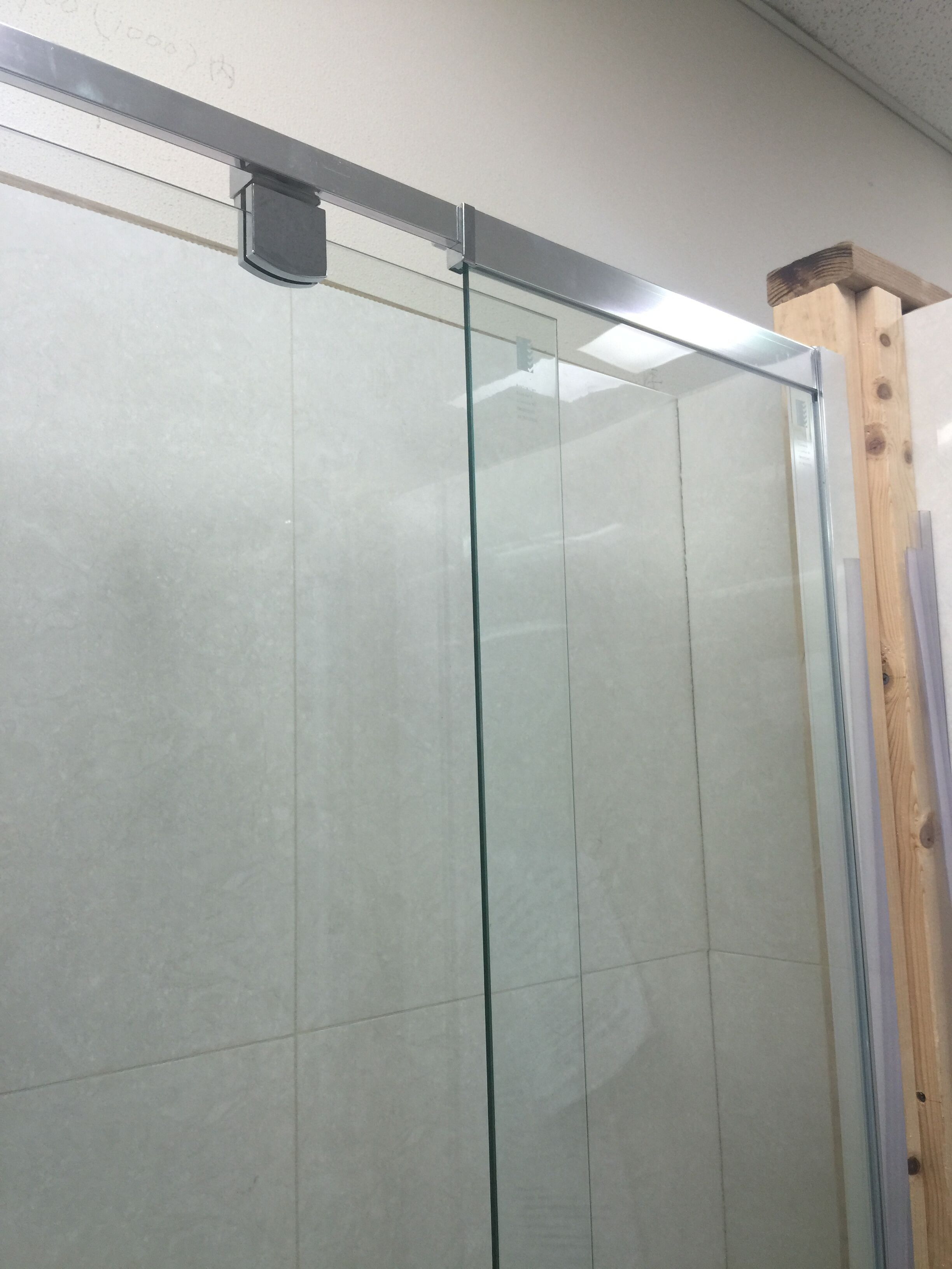 Bathroom Fittings Melbourne - 1500x6mm wall to wall shower screen